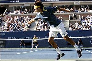 Roger Federer and Lleyton Hewitt