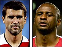 Manchester United's Roy Keane and Arsenal's Patrick Vieira