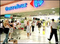 A Carrefour supermarket in Toulouse, south western France