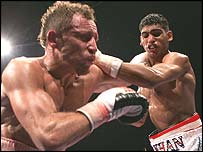 Baz Carey and Amir Khan