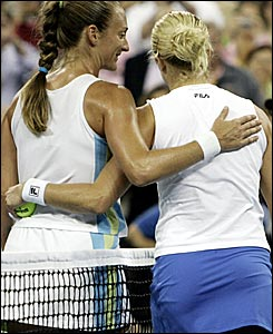 Mary Pierce and Kim Clijsters