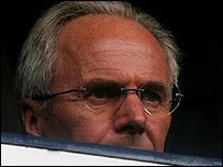 Sven-Goran Eriksson at Tottenham's game with Liverpool on Saturday