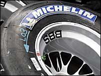 A Michelin tyre