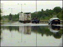 Flash floods in Dartford