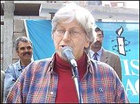 Diana Mines, del Comité Ejecutivo de Amnistía Uruguay.