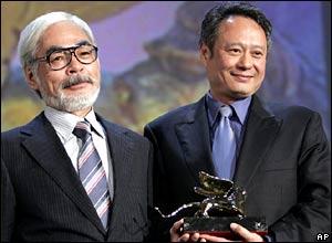 Hayao Miyazaki (l) and Ang Lee