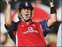 Pietersen celebrates his maiden international century