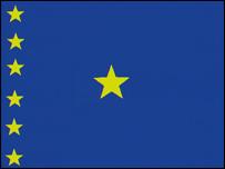 The DR Congo flag