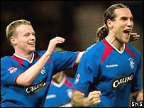 Dado Prso celebrates a goal at Hampden