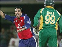Ali dismissed Andrew Hall with his final ball