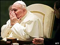 Pope sneezes during weekly audience in January