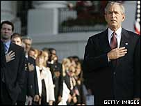 George W Bush at the White House