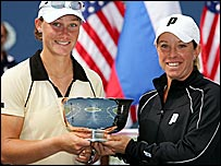 Samantha Stosur and Lisa Raymond