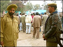 Polling station in Haryana, India