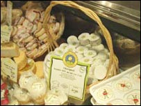 Carrefour cheeses in one of its stores
