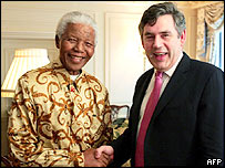 Nelson Mandela and Gordon Brown