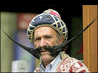 Man with big moustache