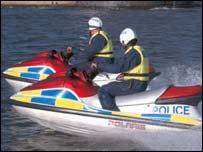Police on jet-skis