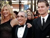 Cameron Diaz, Martin Scorsese and Leonardo DiCaprio