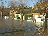 Calle inundada.