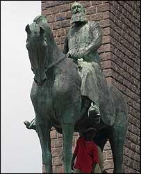 King Leopold II's statue