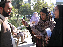 Female Afghan journalist