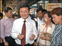Thaksin Shinawatra on the campaign trail, 3 Feb