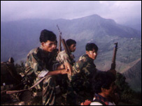 Maoist rebels in Nepal