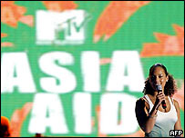 Alicia Keys hosting MTV Asia Aid