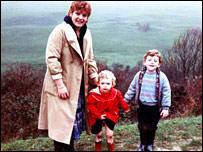 Penny Bell, with Lauren and Matthew