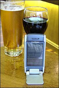 Beer, wine and smartphone (Image: Dr Jeremy Frey, Soton)