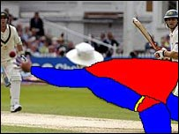 Crayon Game of Andrew Strauss' catch