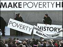 Make Poverty History slogan