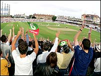 The crowd at The Oval got the result they wanted
