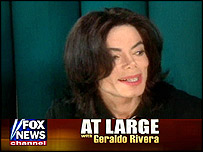 Michael Jackson on Fox News (copyright: Fox News)
