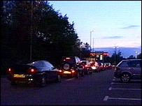 Petrol station queue in Tunbridge Wells
