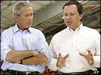 George W Bush and Michael Brown