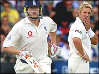 Andrew Flintoff and Shane Warne