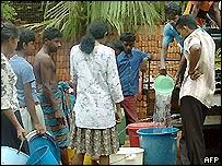 Relief work in Matara, Sri Lanka