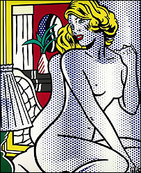 Roy Lichtenstein's Blue Nude