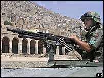 Portuguese soldier in Kabul, Afghanistan