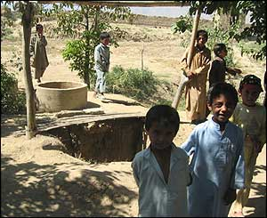 Scene of Asad Khyl village, north of Kabul