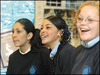Pupils at St Thomas Aquinas High School.