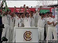 Winning England team