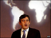UK Chancellor of the Exchequer Gordon Brown at the G7 meeting in London