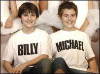 Leon Cooke (left) and Joey Phillips, new stars of Billy Elliot