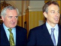 Taoiseach Bertie Ahern and Prime Minister Tony Blair