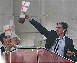 Kevin Pietersen in buoyant mood