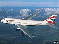 British Airways 747 passenger jet