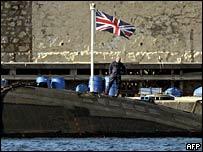 HMS Sceptre in Gibraltar